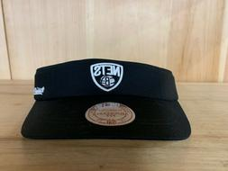 MITCHELL AND NESS BROOKLYN NETS VISOR HAT CAP ADJUSTABLE FIT