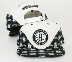 Mitchell & Ness NBA White / Black Wave Brooklyn Nets snapbac