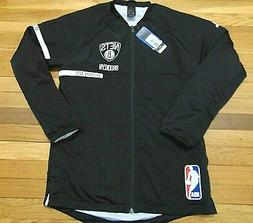 ADIDAS NBA AUTHENTIC BROOKLYN NETS BLACK ON COURT JACKET SIZ