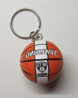 NBA Basketball Brooklyn NETS Spalding Ball KEY CHAIN Ring Ke