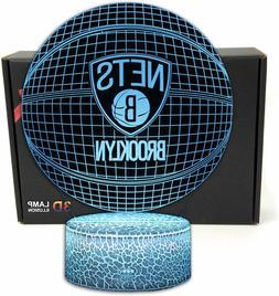 NBA Basketball Team Brooklyn Nets 3D Optical Illusion USB Ni