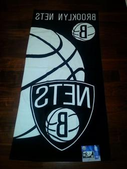 NBA BROOKLYN NETS Beach Towel 28 x 58 Fiber Reactive New Net