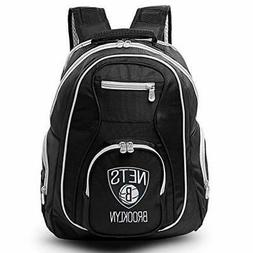 NBA Brooklyn Nets Colored Trim Premium Laptop Backpack