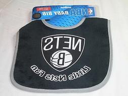 NBA BROOKLYN NETS INFANT BABY BIB BLACK w/GRAY TRIM by WinCr