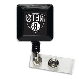 NBA Brooklyn Nets Retractable Badge Holder, Black