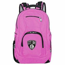 NBA Brooklyn Nets Voyager Laptop Backpack 19-inches Pink