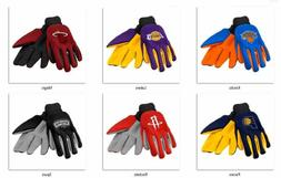 NBA Colored Palm Utility Gloves by Forever Collectibles -Sel