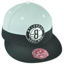 NBA Mitchell Ness G108 Brooklyn Nets Color Split Fitted Hat