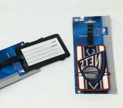 NBA New Jersey / Brooklyn Nets Luggage Tag Travel Bag ID Gol