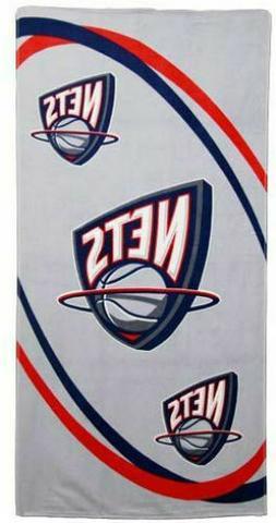 """NBA New Jersey Nets Fiber Reactive Beach Towel 30""""  X 60"""""""