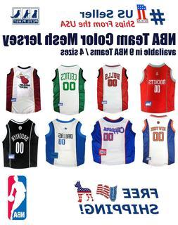 NBA Pet Jersey - 9 Licensed Basketball Teams, 4 sizes. Mesh/
