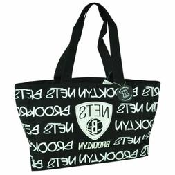 NBA Robin Ruth Brooklyn Nets Medium Tote Hand Bag Glitter Wo