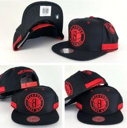 New Mitchell and Ness NBA Black / Red Brooklyn Nets Adjustab