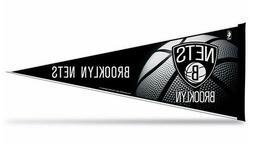 "New  NBA Brooklyn Nets Pennant 12""x30"" made in USA Banner Fl"