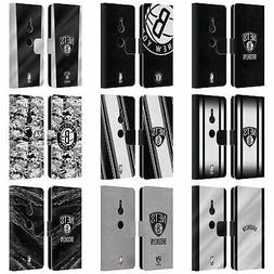 OFFICIAL NBA BROOKLYN NETS LEATHER BOOK WALLET CASE FOR SONY