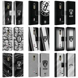OFFICIAL NBA BROOKLYN NETS LEATHER BOOK WALLET CASE FOR LG P