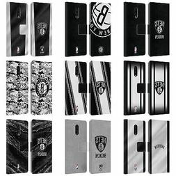 OFFICIAL NBA BROOKLYN NETS LEATHER BOOK WALLET CASE FOR BLAC