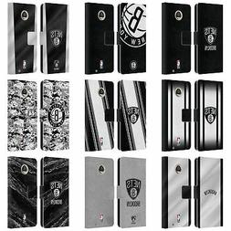 OFFICIAL NBA BROOKLYN NETS LEATHER BOOK WALLET CASE FOR MOTO