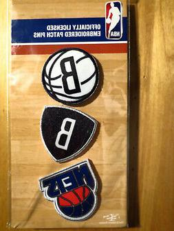 Official Licensed NBA Brooklyn Nets Embroidered Patch Pin Se