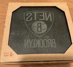 Set of 4 Brooklyn Nets Slate Coasters
