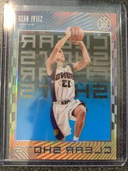 STEVE NASH 2019-20 Illusions Clear Shots Acetate Sapphire In