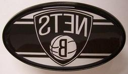 "Trailer Hitch Cover NBA Basketballl Brooklyn Nets NEW 2"" rec"