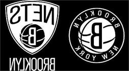 Two  Brooklyn Nets Decals Black White Pink * Free Shipping *