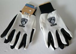 TWO  PAIR OF BROOKLYN NETS, SPORT UTILITY GLOVES FROM FOREVE